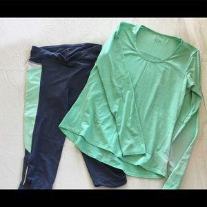 Set of Athleta running clothes
